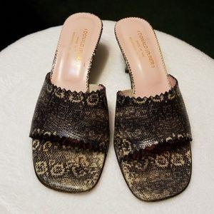 DONALD J. PLINER Italian Leather Slippers